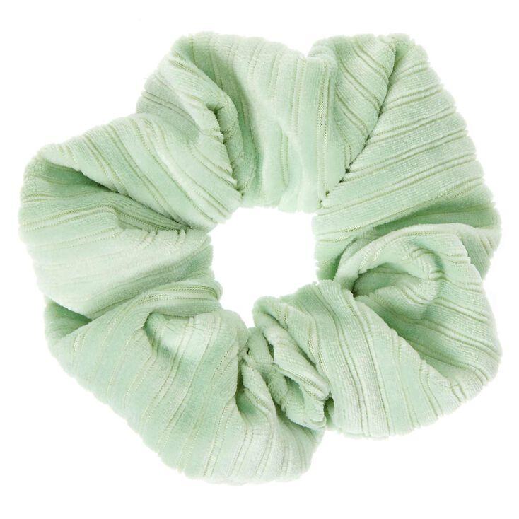 Ribbed Velvet Hair Scrunchie - Mint,