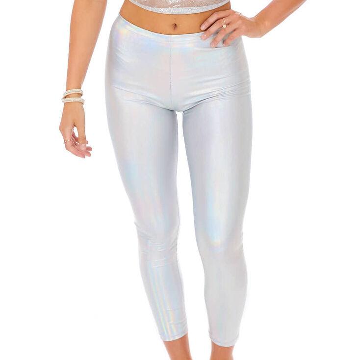 95edb92a32f52 Holographic Leggings - Silver | Icing US