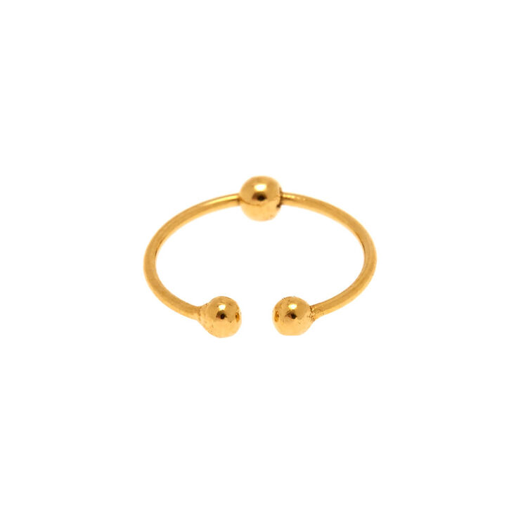 Sterling Silver Gold-Tone Faux Nose Ring,