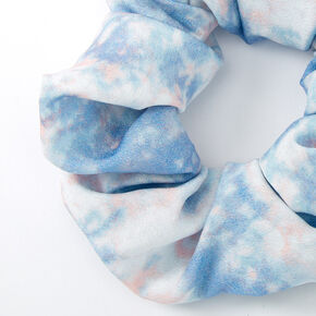 Medium Chiffon Tie Dye Hair Scrunchie - Gray,