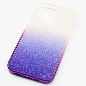 Purple Ombre Caviar Glitter Phone Case - Fits iPhone 12/12 Pro,