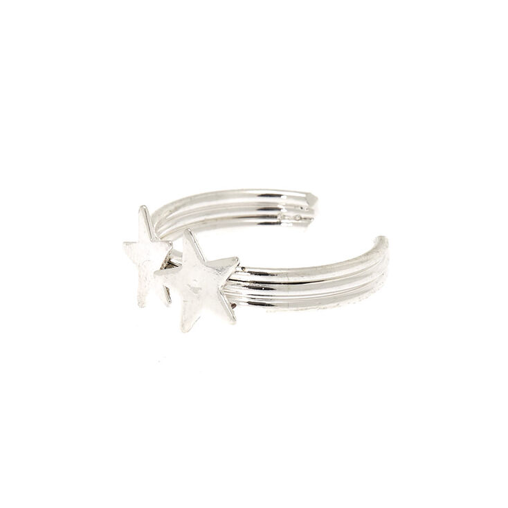Silver Double Star Toe Ring,