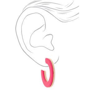 40MM Layered Hoop Earrings - Pink,