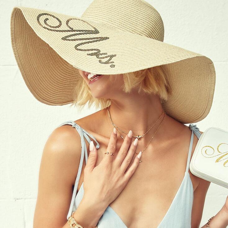Mrs. Sequin Oversized Floppy Hat,