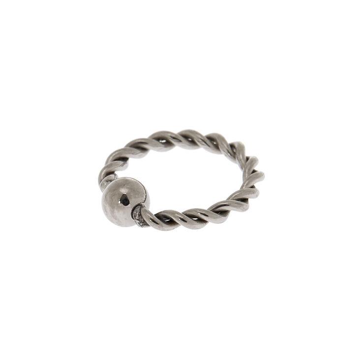Titanium Twisted Cartilage Hoop Earring,