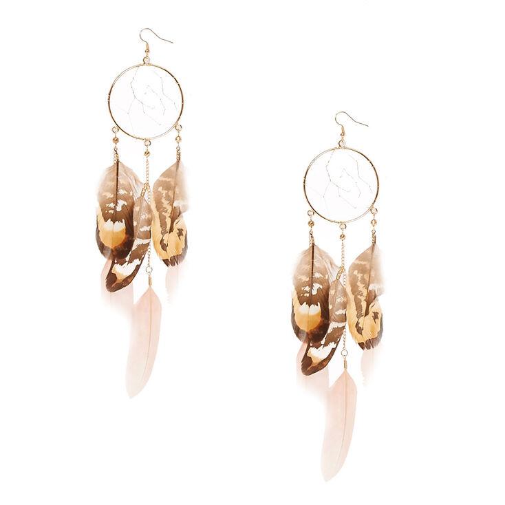 Dreamcatcher Feather Earrings,