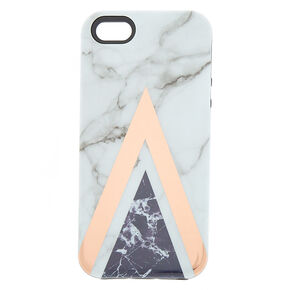 Geometric Marbled Protective Phone Case - Fits iPhone 6/7/8/SE,