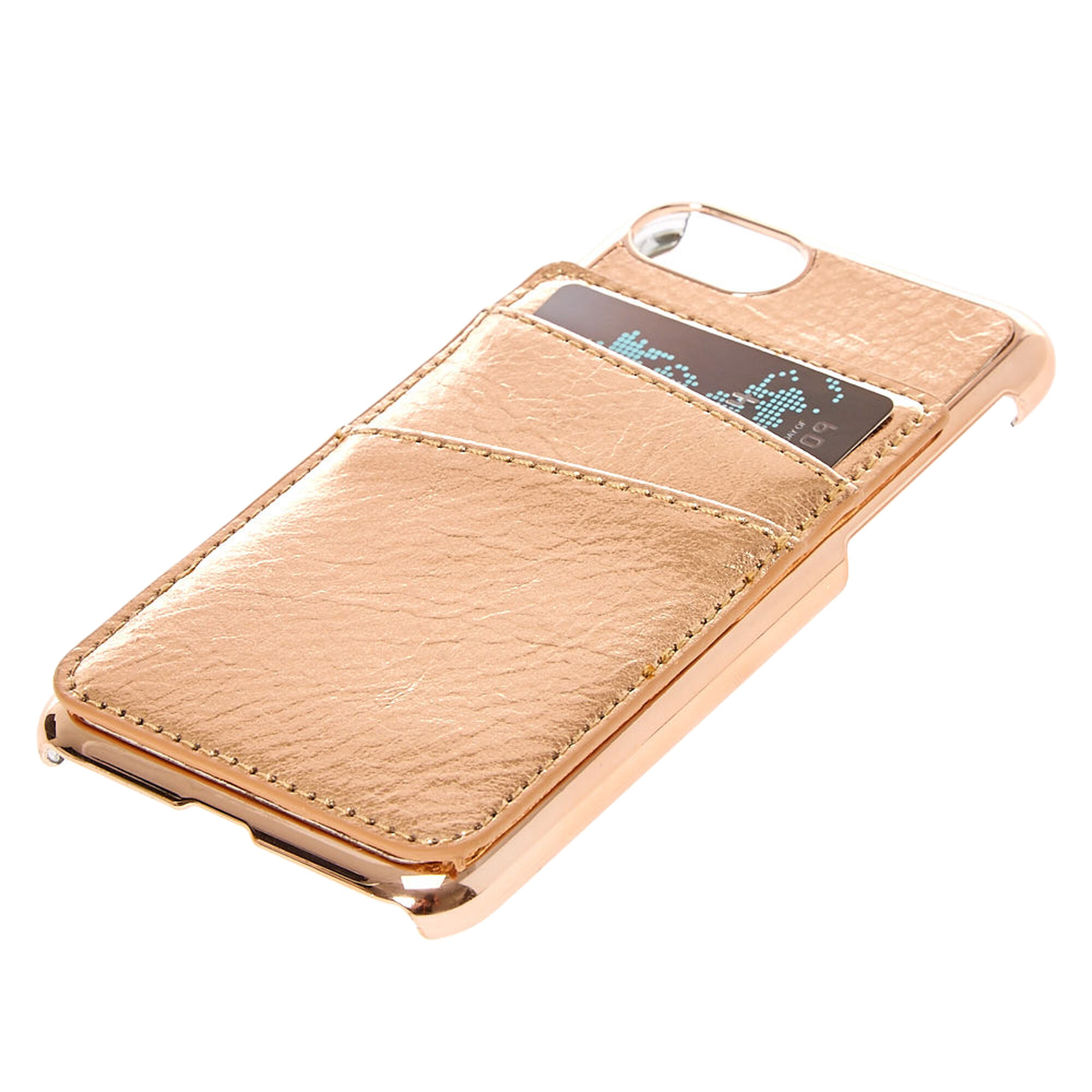 best service 0a5f5 8382e Rose Gold-Tone Card Holder Phone Case