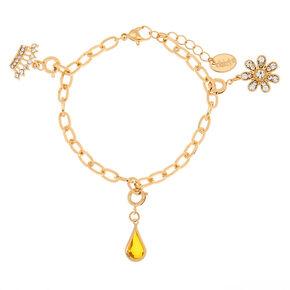 December Birthstone Bracelet Charm - Blue Zircon,