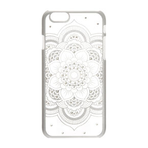 Silver Flower Mandala Phone Case - Fits iPhone 6/6S,