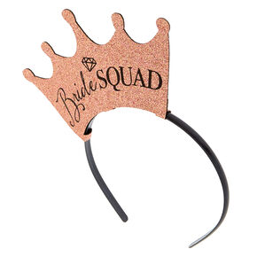 Rose Gold Bride Squad Headband Set,
