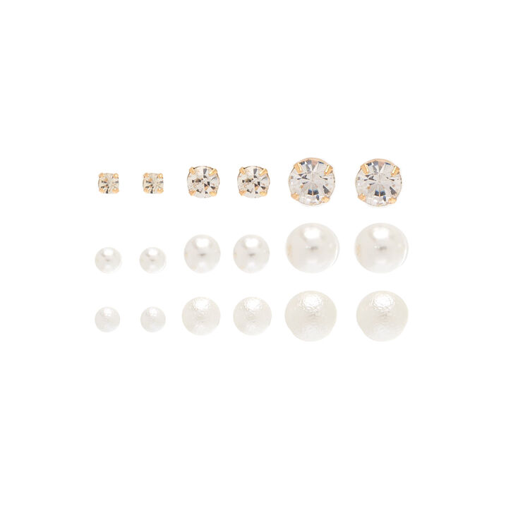9 Pack Graduated Stud Earrings,