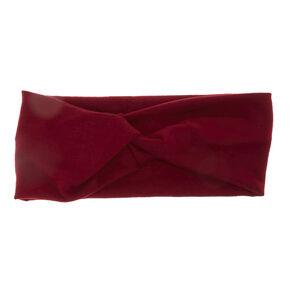 Burgundy Wide Jersey Headwrap,