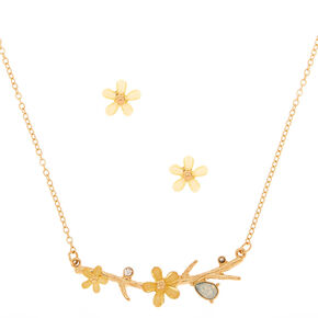 Gold Spring Floral Jewelry Set - Yellow,