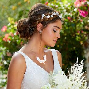 Crochet Floral Hair Vine - White,