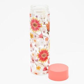 Pressed Flower Water Bottle - Coral,