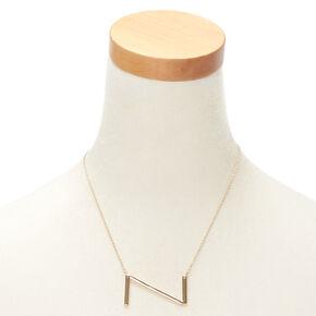 Oversized Initial Pendant Necklace - Z,
