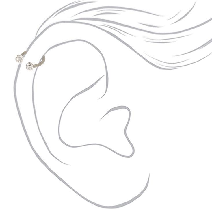 Titanium 16G Fireball Cartilage Earring,