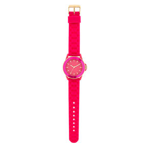 Pink Rubber Watch,