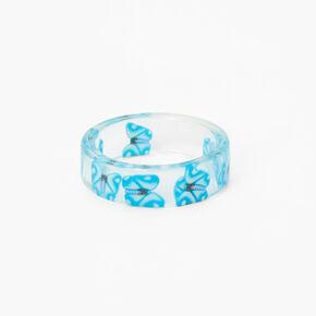 Ivory Stone Hinged Cuff Bracelet,