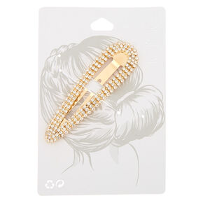 Gold Rhinestone Statement Snap Clip,