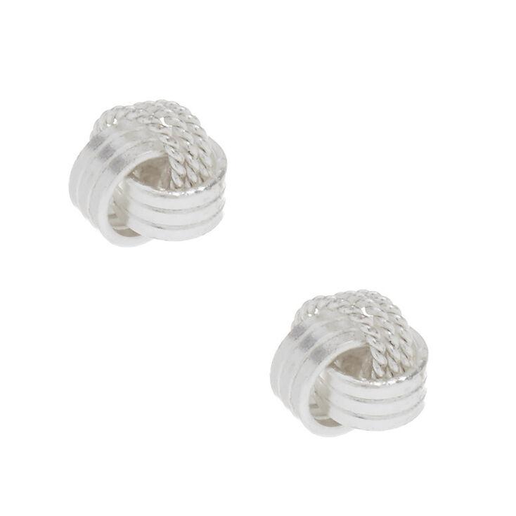 Sterling Silver Knot Stud Earrings,