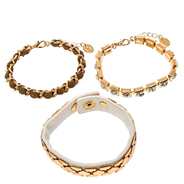 Rose Gold-Tone Glam Bracelets,