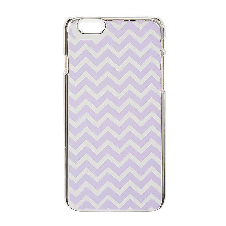 Purple & Silver Reflective Chevron Print Phone Case - iPhone 6/6S,