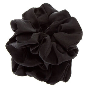Silk Hair Scrunchies - Black, 3 Pack,