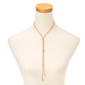 Gold Tone Lariat Necklace,
