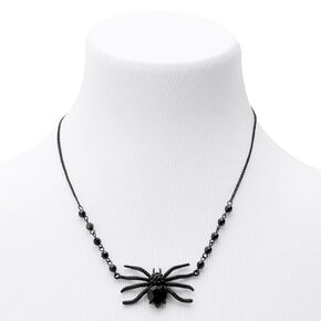 Hematite Spider Gem Statement Necklace,