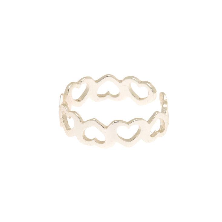 Sterling Silver Mini Heart Toe Ring,