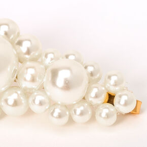 Chunky Pearl Hair Pins - Ivory, 2 Pack,