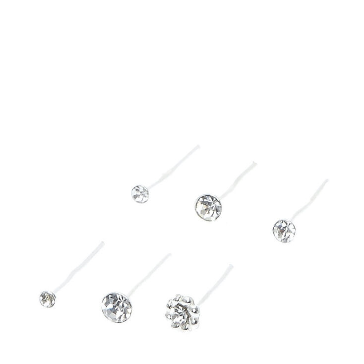 Sterling Silver Braid Nose Stud Earrings - 6 Pack,