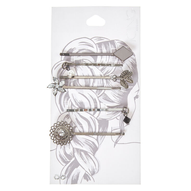 Vintage Burnished Silver Bobby Pins,