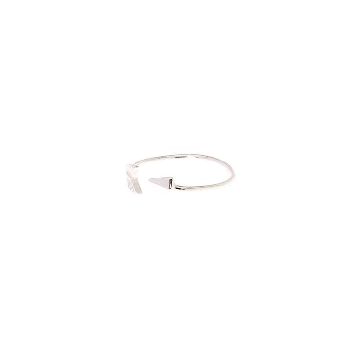 Sterling Silver Open Arrow Toe Ring,
