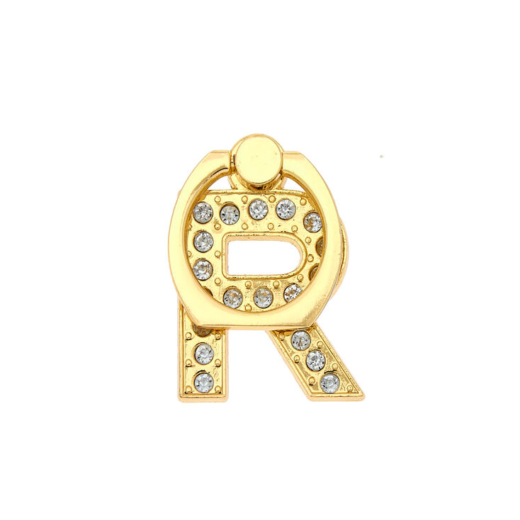 Gold Initial Ring Stand - R,