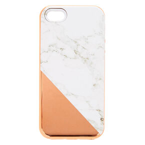 Rose Gold Marble Protective Phone Case - Fits iPhone 6/7/8,
