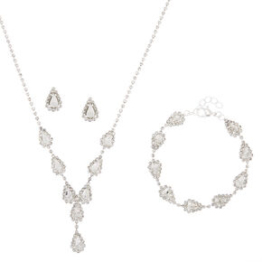 Silver Teardrop Jewelry Set - 3 Pack,