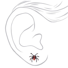 Spider Stud Earrings - Black, 3 Pack,