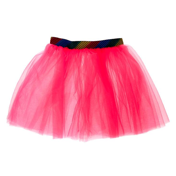 Long Neon Tutu - Pink,