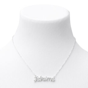 Silver Je T'aime Pendant Necklace,