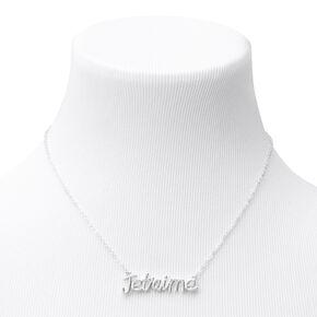 Silver Je T'aime Pendant Necklace,