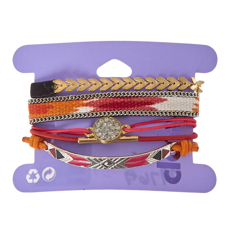 5 Pack Assorted Stretch Bracelets,