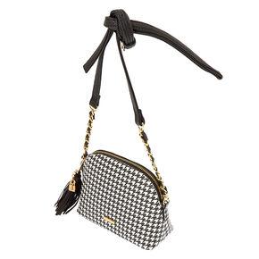 Houndstooth Crossbody Bag,