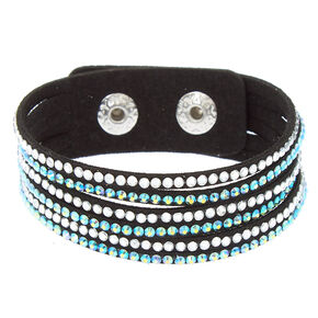 Studded Layered Statement Bracelet - Teal,