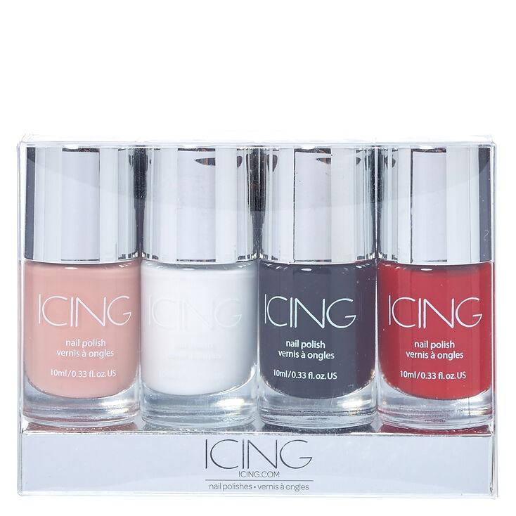 Basic Colors Nail Polish 4 Pack,