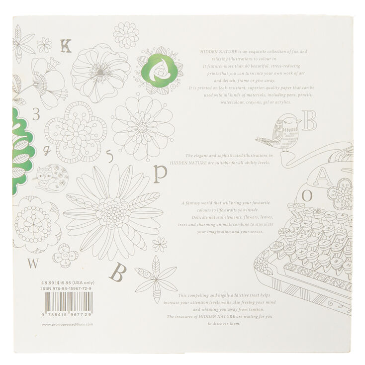 Hidden Nature: A Coloring Escape For Grown-Ups Book,