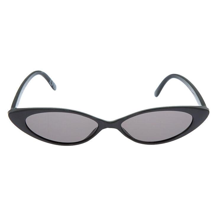 Slim Cat Eye Sunglasses - Black,