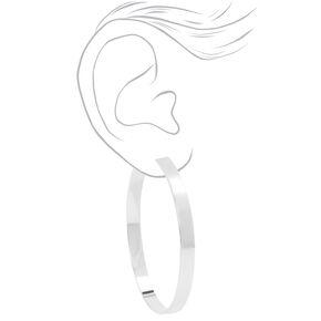 Silver 60MM Thick Hoop Earrings,